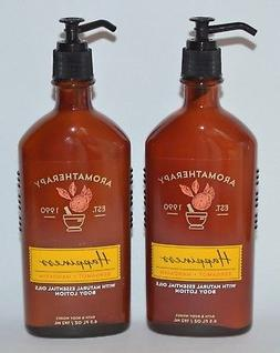 2 BATH & BODY WORKS AROMATHERAPY HAPPINESS BERGAMOT MANDARIN