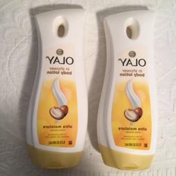 2 OLAY in Shower BODY LOTION Ultra Moisture Shea Butter 15.2