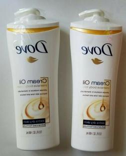 2 packs - Dove Cream Oil Intensive Body Lotion 13.50 oz