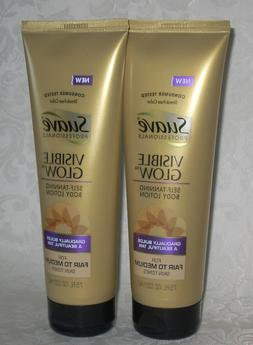 *2* SUAVE *VISIBLE GLOW* SELF-TANNING BODY LOTION * 7.5 OZ E