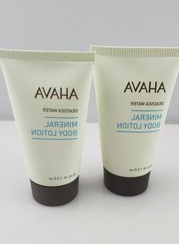 2x Ahava Mineral Body Lotion Deadsea Water 40 mL / 1.3 fl oz
