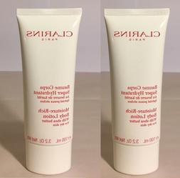 2x Clarins Moisture Rich Body Lotion Shea Butter 100 ml 3.2