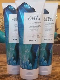 3 Bath & Body Works Aquamarine Body Cream Natural Mineral Lo
