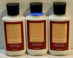 3 Bath & Body Works BOURBON FOR MEN Body Lotion 8oz Each
