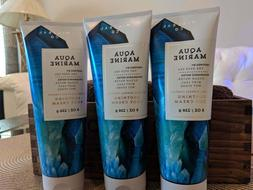 3 tubes Bath and Body Works AQUA MARINE Natural Mineral Body