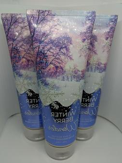 3 cans Bath Body Works WINTER BERRY WONDER Ultra Shea Body C
