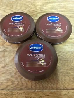 3 Vaseline Intensive Care Cocoa Glow Body Lotion Cream 2.53f