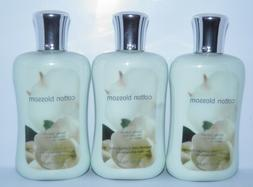 3 PACK Bath & Body Works COTTON BLOSSOM Body & Hand Lotion N