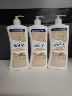 3 ST. IVES SOOTHING OATMEAL & SHEA BUTTER BODY LOTION 21OZ E
