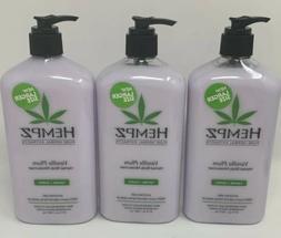 3 Hempz Vanilla Plum Bonus Size 21 OZ Herbal Body Moisturize