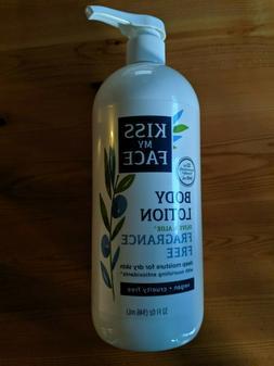 32 oz KISS MY FACE Olive & Aloe Fragrance Free Body Lotion V