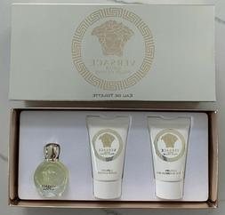 3PC gift Set Versace EROS Pour Femme EDT .17oz Mini Body Lot
