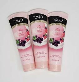 3x Olay 24 Hour Moisture Body Lotion Silky Berry Absorbs 8.4