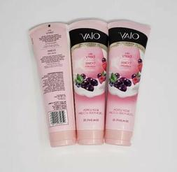 3x Olay 24 Hour Moisture Body Lotion Silky Berry Absorbs 8.4