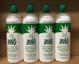 4 Bottles Triple Lanolin Aloe Vera Hand & Body Lotion 20oz