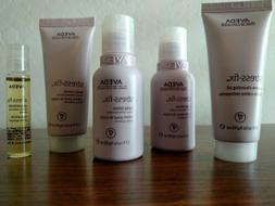 AVEDA 4pc Stress-Fix Travel Set. Cleansing Oil Body Lotion B