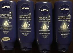 4x NIVEA IN-SHOWER BODY LOTION ALMOND OIL FOR VERY DRY SKIN
