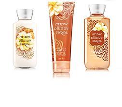 Bath & Body Works Warm Vanilla Sugar Body Set   Shower Gel,