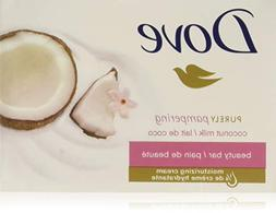 Dove Beauty Soap Bar: COCONUT MILK. Protects Your Skin's Na