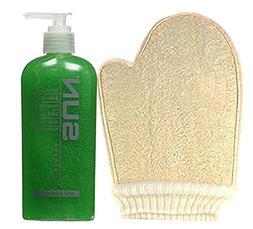Sun Laboratories - Loofah Sponge Mitt with Exfoliant Body Ge