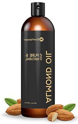 Sweet Almond Oil - Organic Moisturizer for Skin, Face, Body,