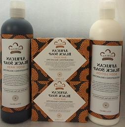 African Black Soap, Lotion & Body Wash Set.. by Nubian Herit