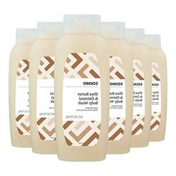 Amazon Brand - Solimo Shea Butter and Oatmeal Body Wash, 24