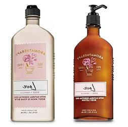 BATH AND BODY WORKS Aromatherapy LOVE - ROSE & VANILLA Duo B