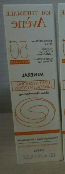 Avene Mineral Light Hydrating Sunscreen Lotion SPF 50+ Face
