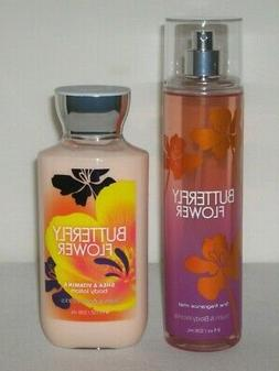 "Bath & And Body Works ""BUTTERFLY FLOWER"" Fragrance Mist & Bo"