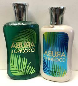 Bath & Body Works ARUBA COCONUT Body Lotion & Shower Gel set