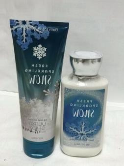 Bath & Body Works Fresh Sparkling Snow Body Cream And Body L