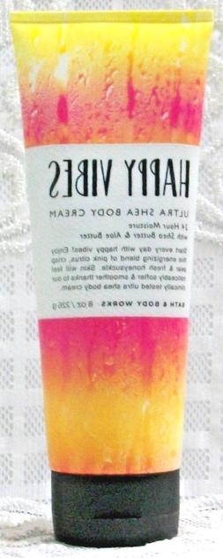 Bath & Body Works ~ HAPPY VIBES ~ Ultra Shea Body Cream Loti