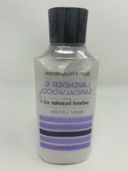 Bath And Body Works Lavender & Sandalwood Body Lotion 8 oz N