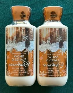 BATH & BODY WORKS SNOWFLAKES & CASHMERE LOTION 8 OZ  LOT OF