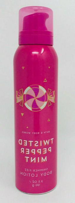 Bath & Body Works Twisted Peppermint Shimmer Fizz Body Lotio