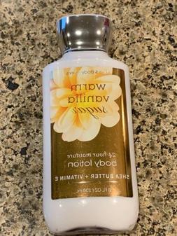 Bath & Body Works WARM VANILLA SUGAR Body Lotion 8 oz New Fa