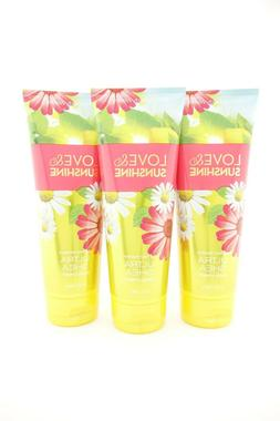 Bath Body Works 3 Love & Sunshine Ultra Shea Body Cream 8oz