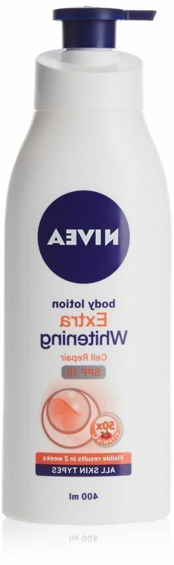 Nivea Body Extra Whitening Body Lotion Cell Repair, UV Prote