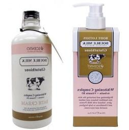 Body Lotion & Shower Cream Double Milk Glutataione Whitening