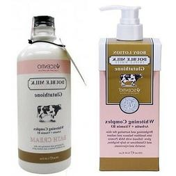 Body Lotion & Shower Cream Double Milk Glutataione Whitening
