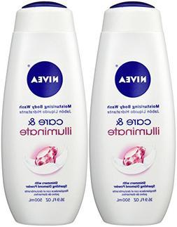 NIVEA Care & Illuminate Moisturizing Body Wash, Shimmers Wit