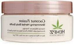 Hempz Coconut Fusion Herbal Shimmering Body Souffle, 8 Ounce