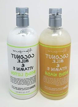 Renpure - Coconut Milk & Vitamin E Body Wash & Body Lotion