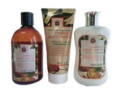 Cranberry Sweet Orange Body Lotion Scrub Wash With Coffee Po