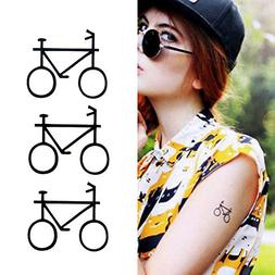 Oottati Small Cute Temporary Tattoo Bicycle Totem Arm