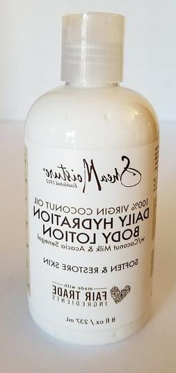 Shea Moisture Daily Hydration Body Lotion 8 oz New 100% Virg