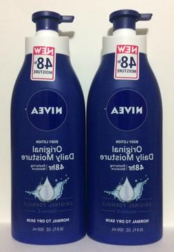 NEW LOT OF 3 NIVEA ORIGINAL DAILY MOISTURE BODY LOTION 16.9