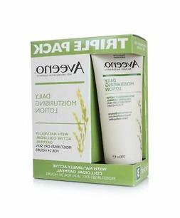 Aveeno Daily Moisturising Body Lotion 3 x 200ml Dry Skin Wit
