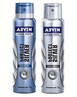 Nivea Men - Set2 Silver Protect + Polar Blue Deo Spray